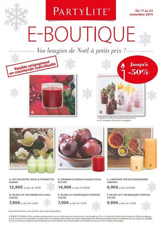 Offres e-boutique du 17 au 23 Novembre 2014