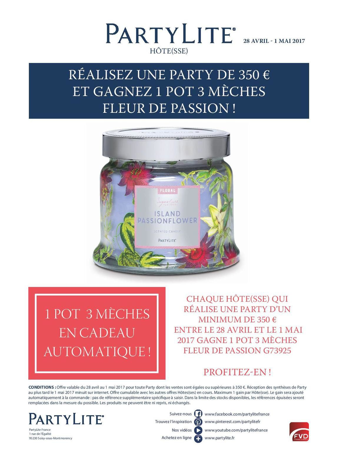 Promotions Hôtes(ses) du 4 au 30 Avril 2017