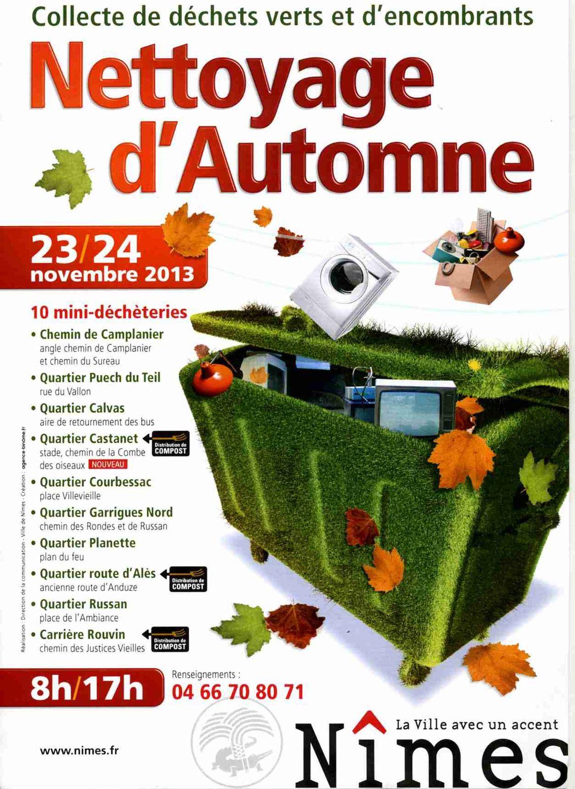 Nettoyage d'Automne à Nîmes 23 et 24 novembre 2013