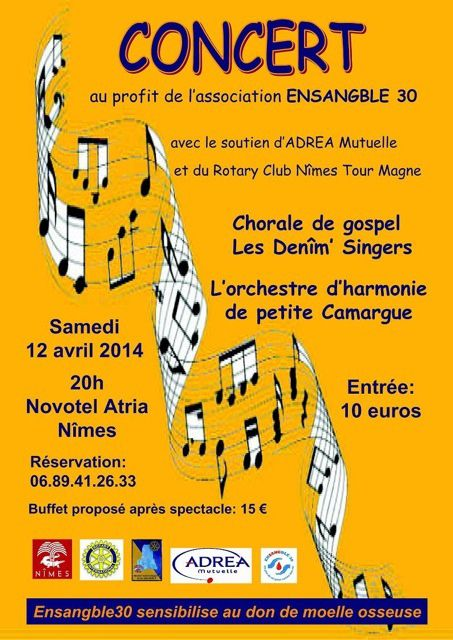 CONCERT ASSOCIATION ENSANGBLE 30 LE SAMEDI 12 AVRIL 2014