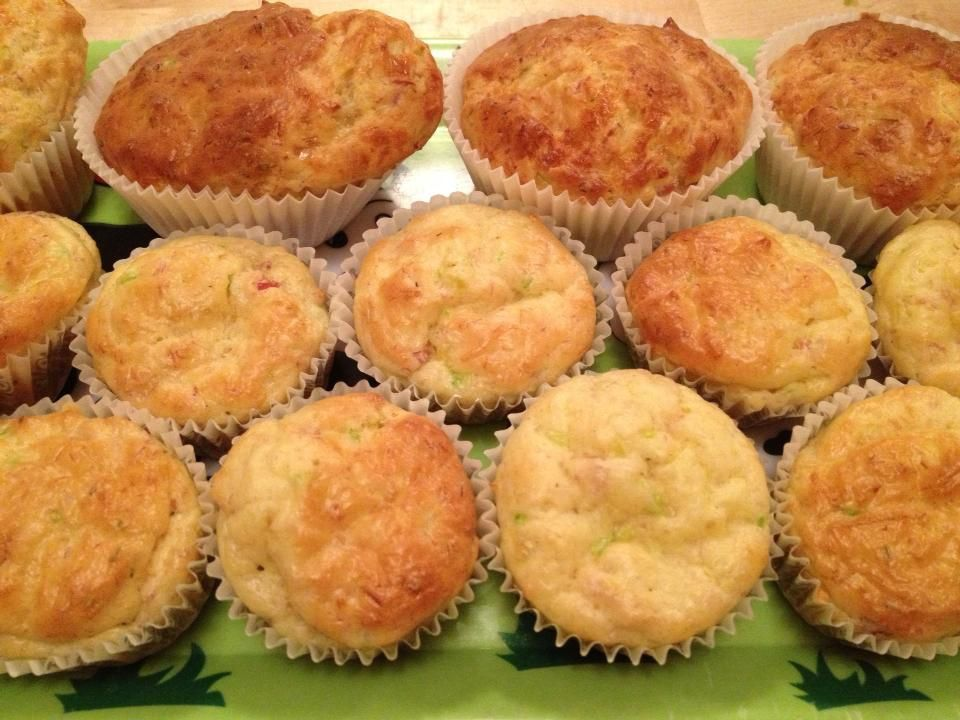 Muffin courgette-jambon-emmental