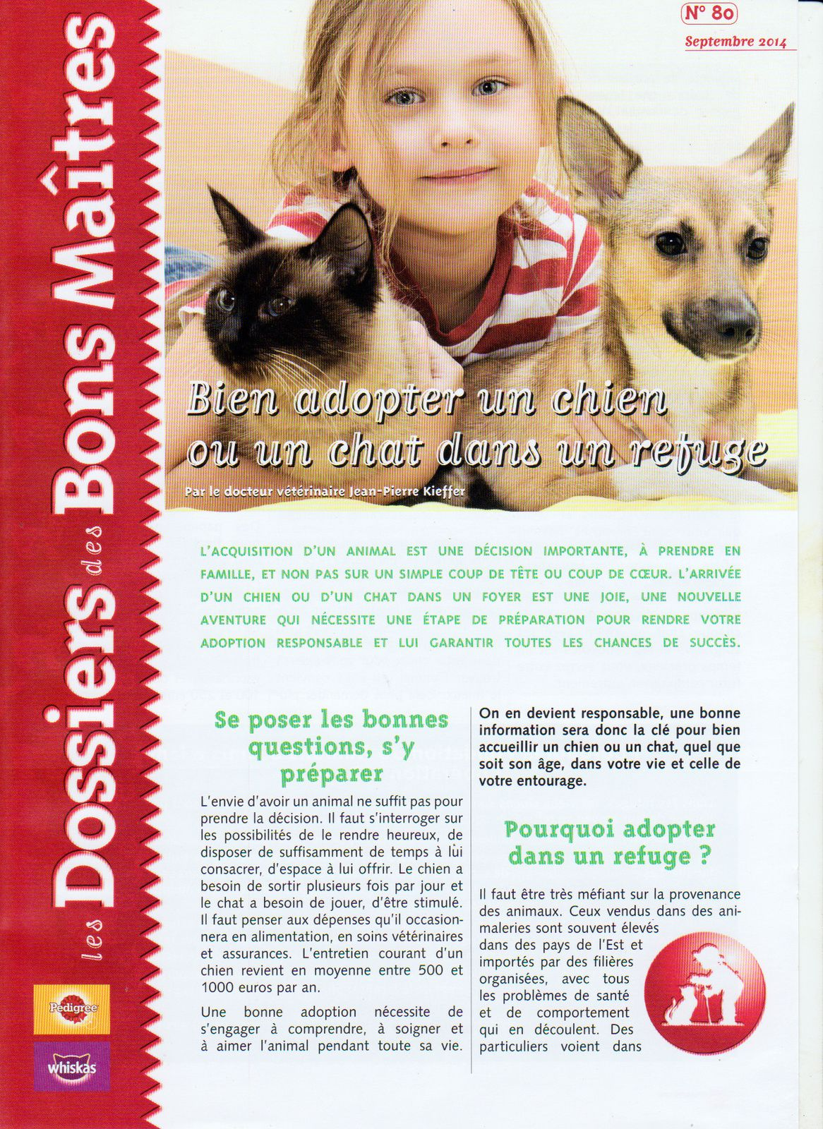 POURQUOI ADOPTER UN ANIMAL DANS UN REFUGE.