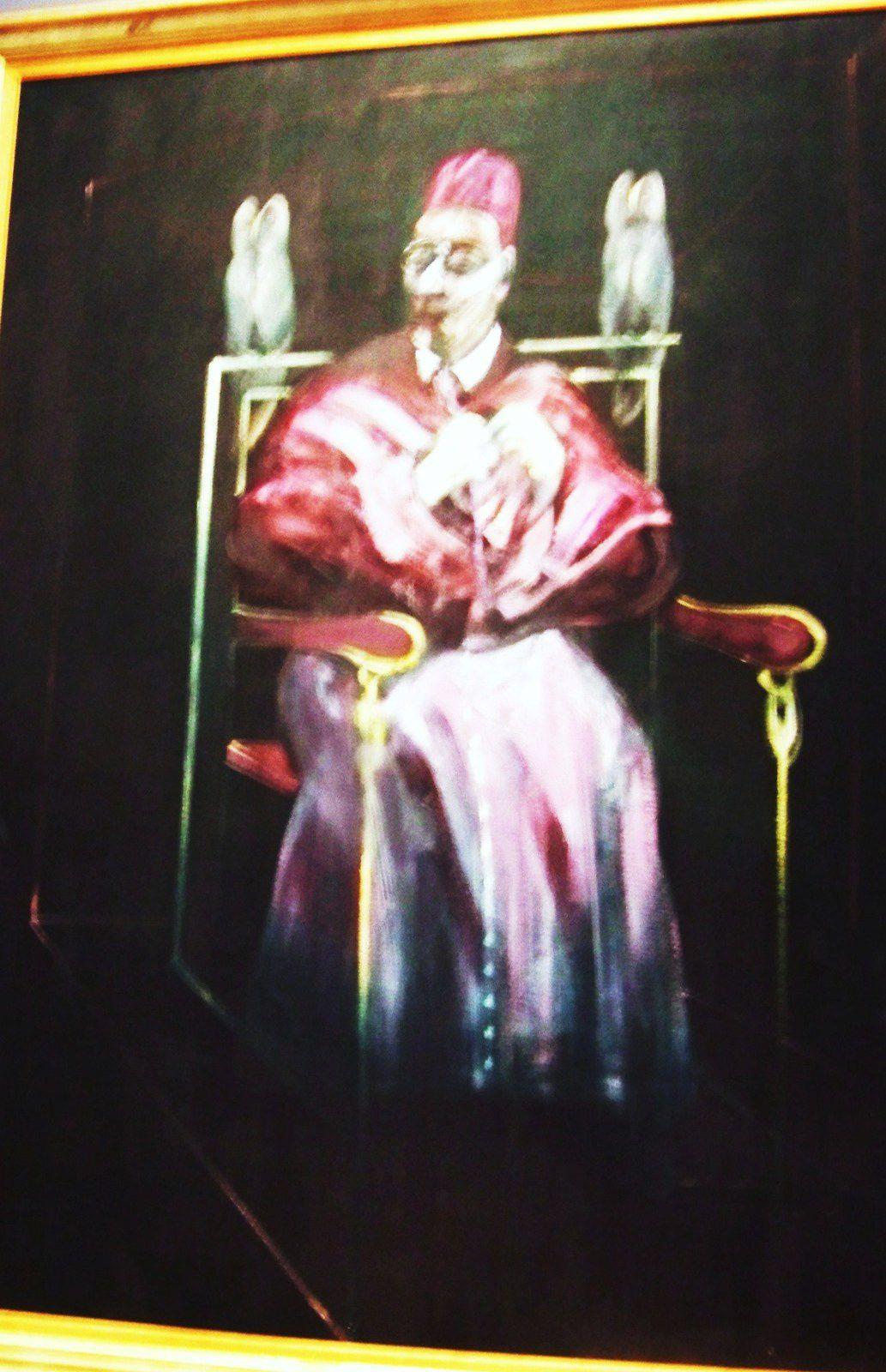 musée des Beaux Arts Pierre Alechinsky : le dernier jour; Francis Bacon le pape aux hiboux;Georges Rouault le Diplomate