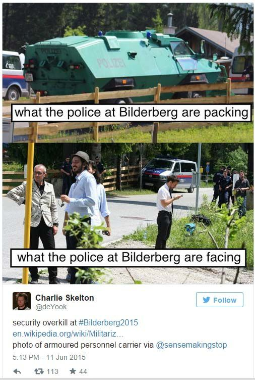 Harcèlement policier envers les journalistes présents au Bilderberg 2015