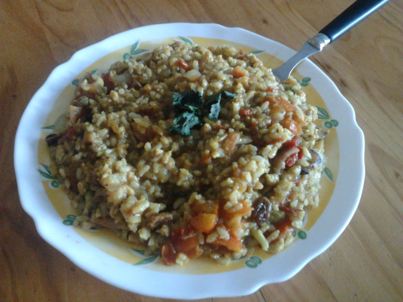 Riz au curry de tomates