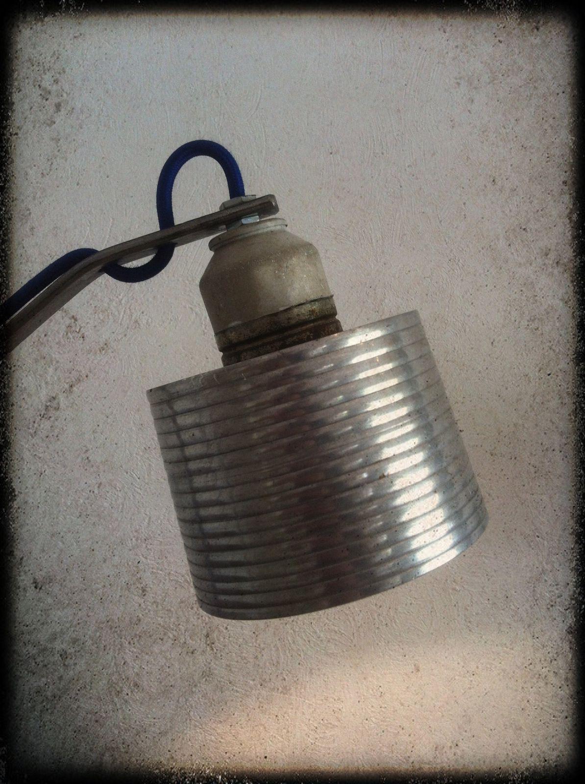 Lampe &quot&#x3B;Blue Ice&quot&#x3B; H 55cm (vendu)