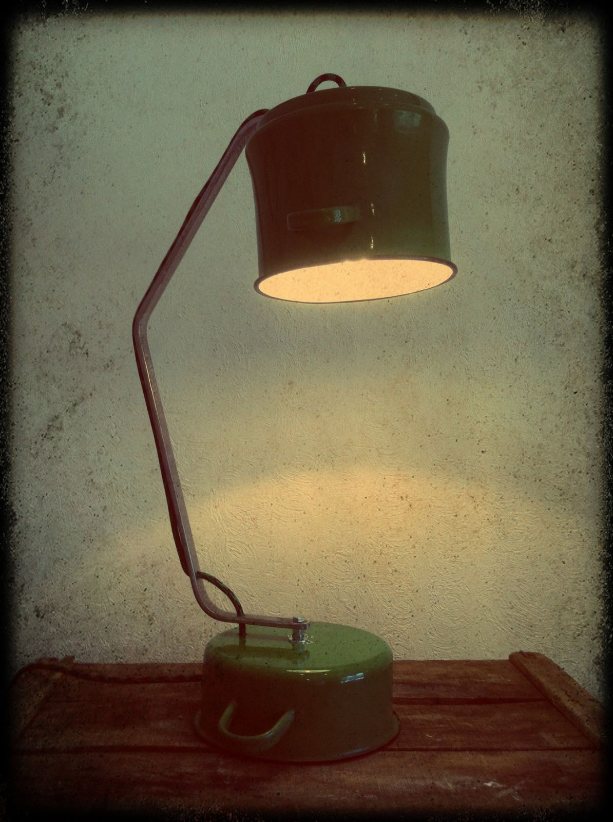 "Lampe ""green"" H 60cm (disponible)"