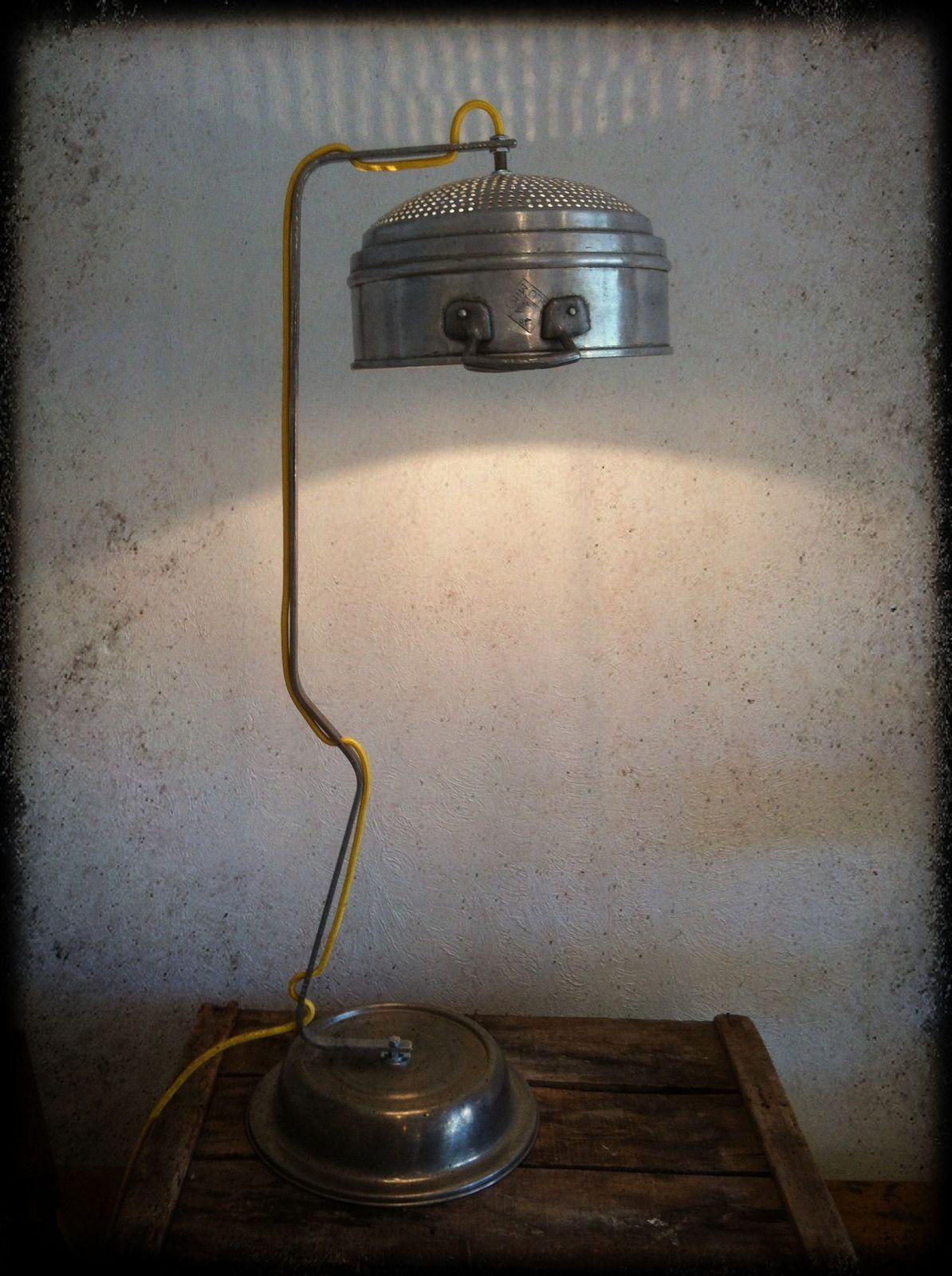 """Lampe """"Pasta"""" H 83cm (vendu)"""