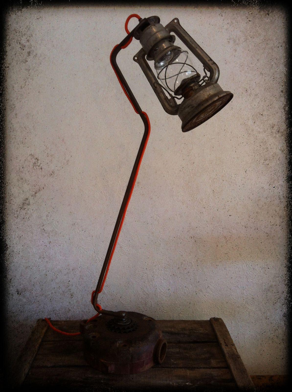 """Lampe """"Clair de lune"""" H 84cm (disponible)"""