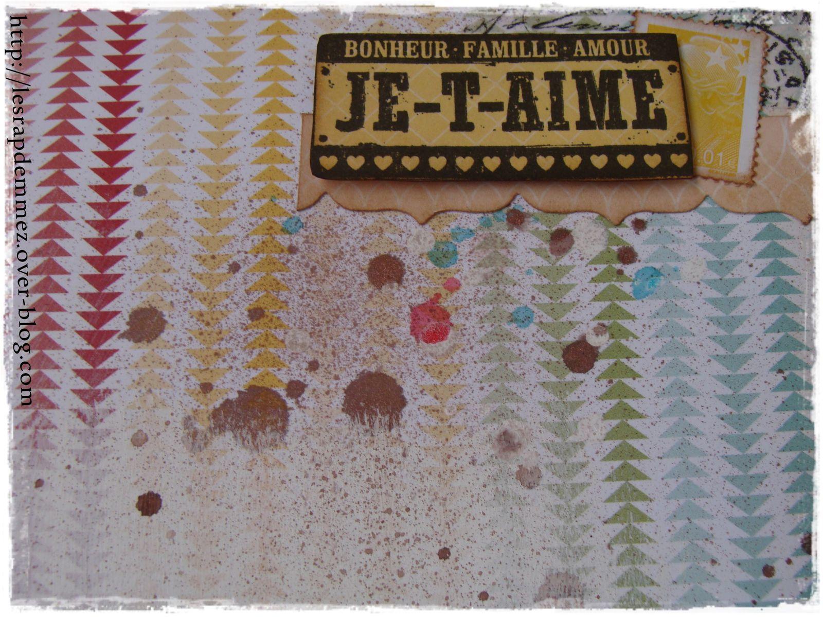 les tâches, le timbres et un super tampon Florilèges Design !!