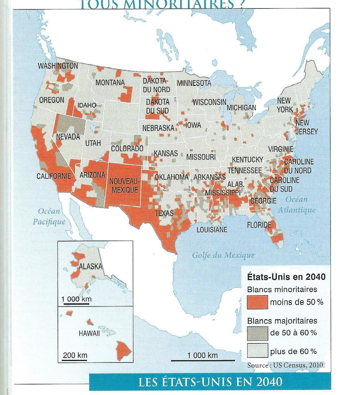 Comprendre le sujet « Minorités et recompositions territoriales en Amérique du Nord (Canada, États-Unis, Mexique) » des documents