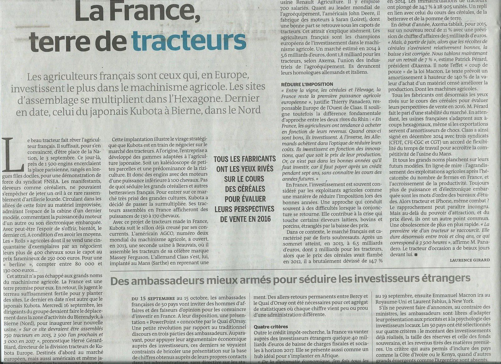 La France, mutation des espaces productifs : documents
