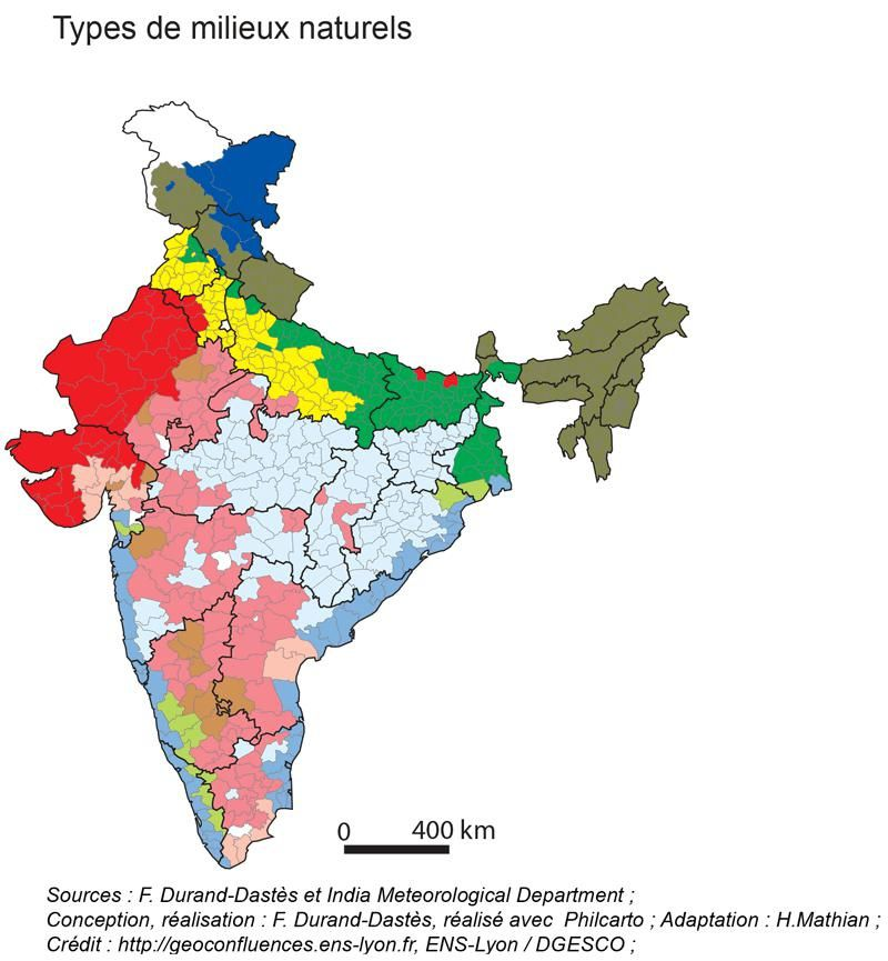 Les populations de l'Union indienne