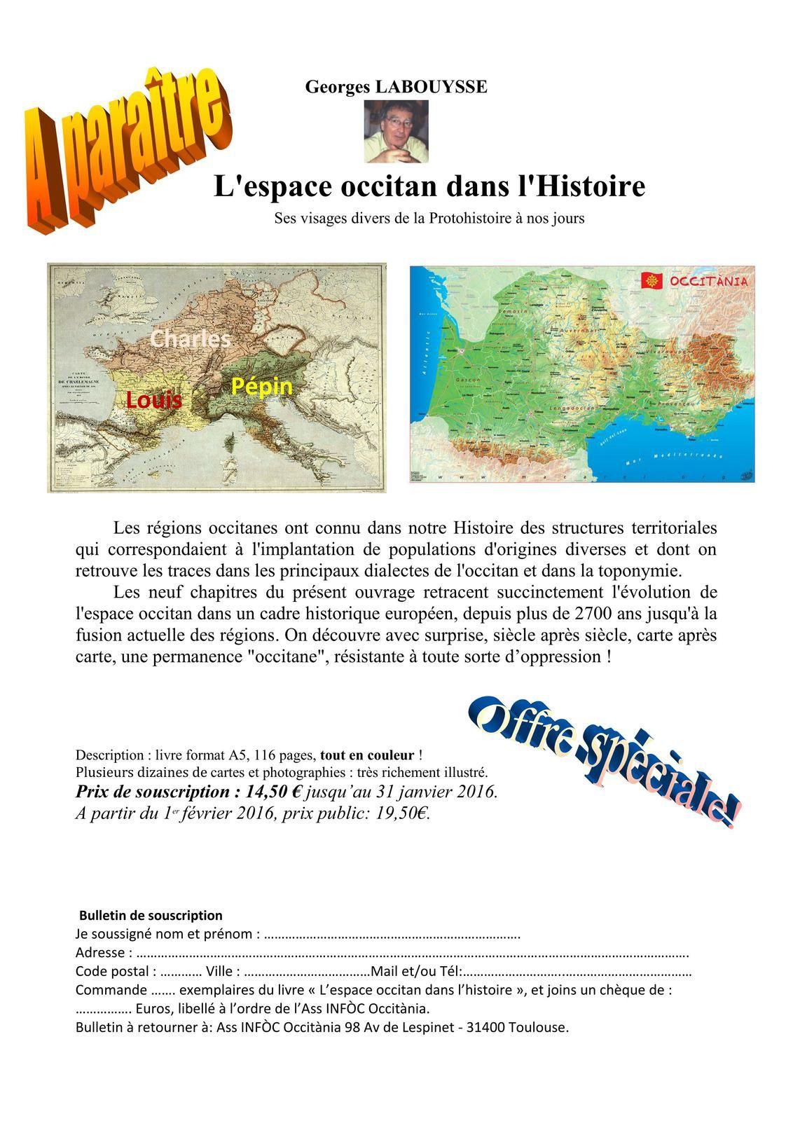 « L'espace occitan dans l'Histoire » par Georges Labouysse