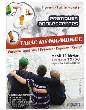 11 février 2014 : parlons tabac, drogues, alcool