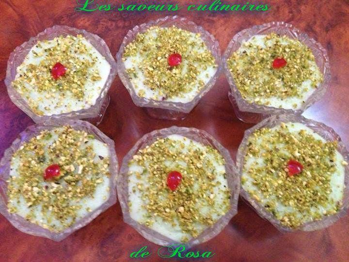 Mhalbi à la pistache