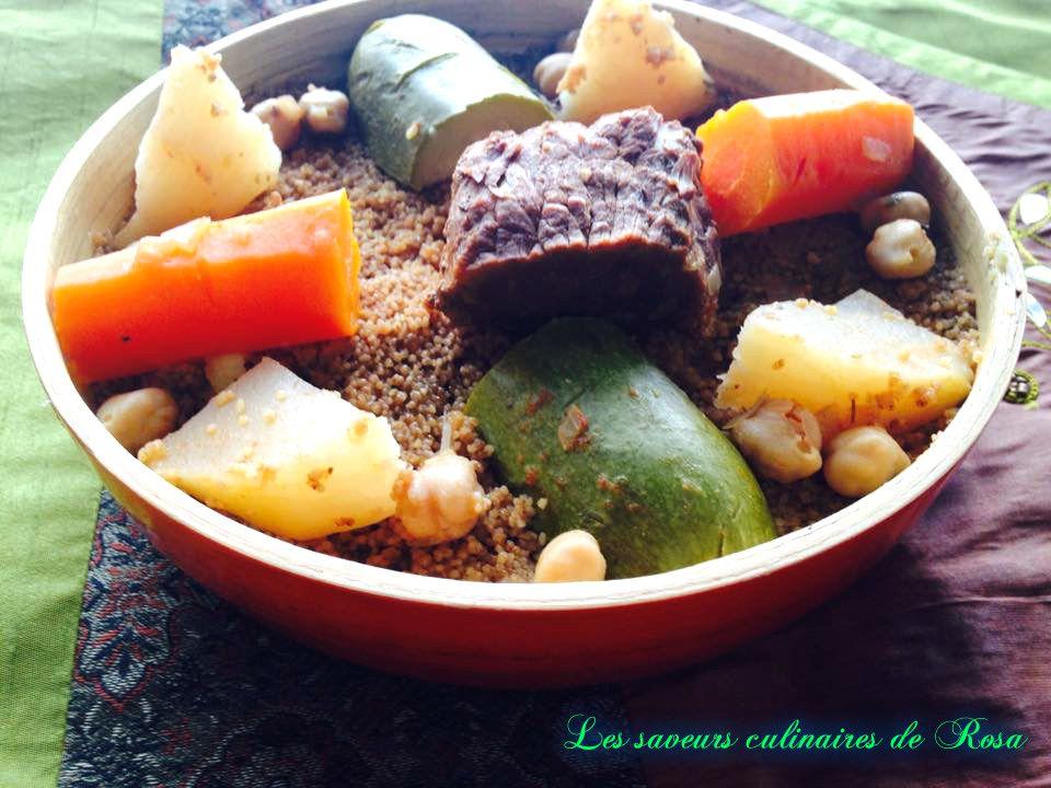 Mzayet (couscous au blé fermenté)