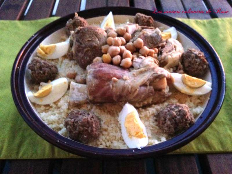 Mhawar (Couscous constantinois en sauce blanche)