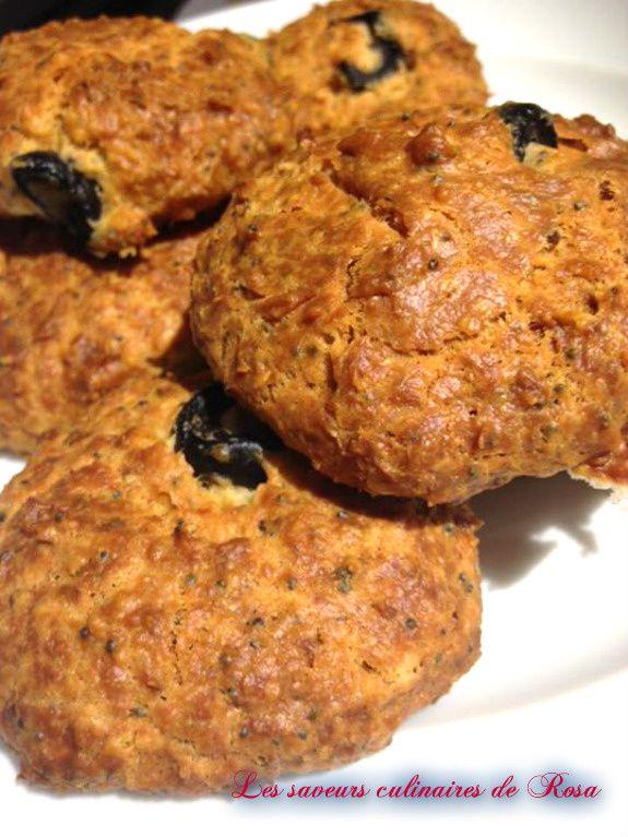Cookies aux olives et graines de pavot
