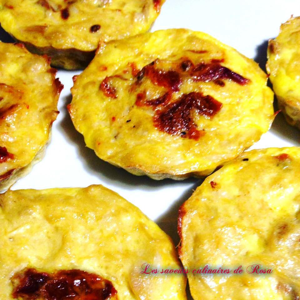 Minis quiches au thon sans pâte