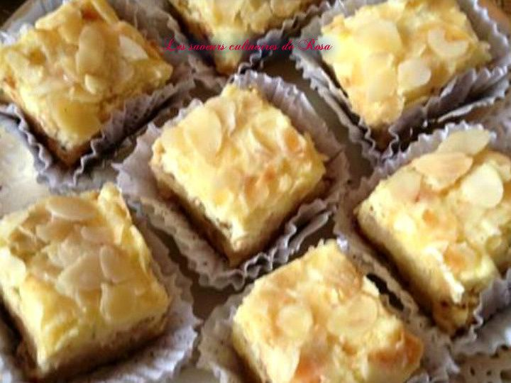 Castel aux amandes et à la crème au beurre citronnée