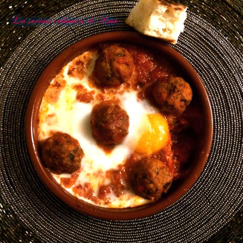 Tajine kefta aux œufs(tajine marocain)