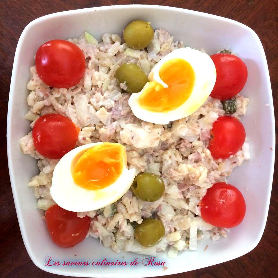Salade d'ebly au thon (salade de blé au thon)