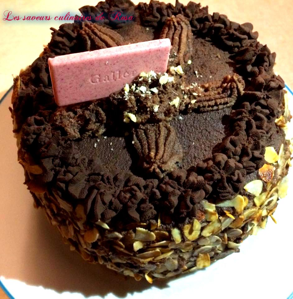 Gâteau Moka (chocolat-noisettes)