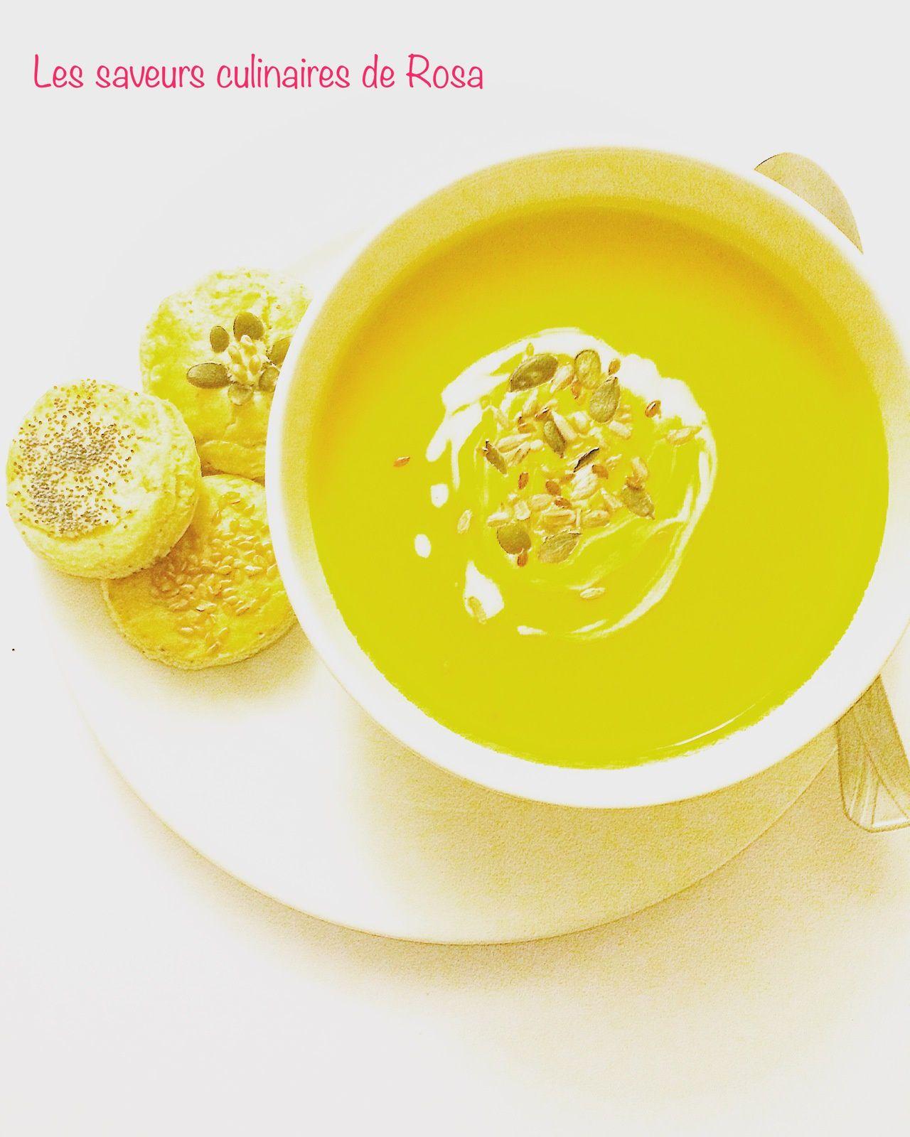 Soupe potimaron-patate douce au curry et lait de coco _ Bataille food #49