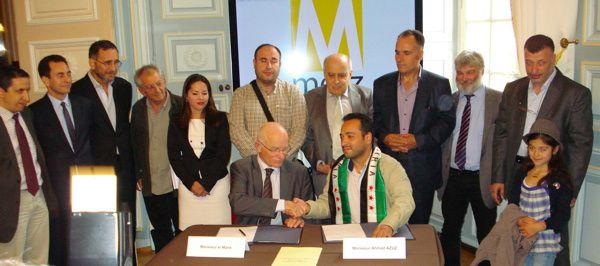 Signature de la Charte d'Amitié Metz-Alep, juin 2013