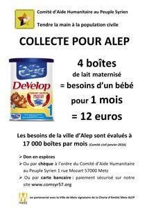 Donner pour les enfants de la province d'Alep