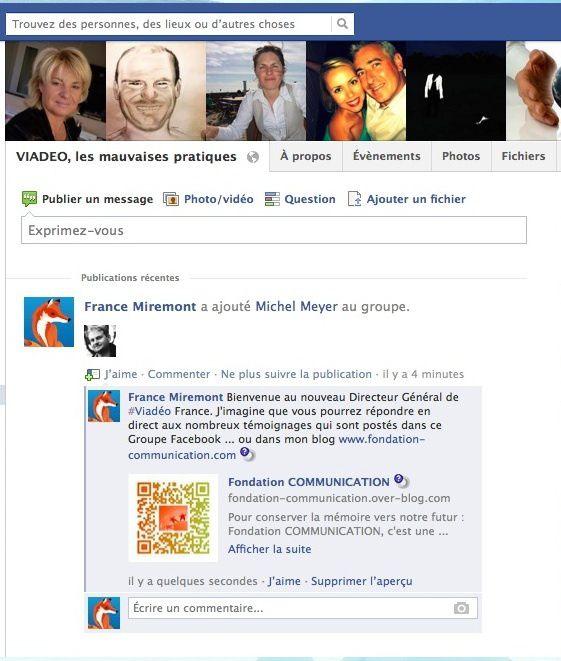 Viadéo les Mauvaises Pratiques a été créé sur Facebook le 25 nov. 2008.