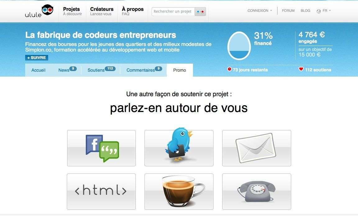 Soutenir Simplon.co : les aider à former d'excellent-e-s codeurs/codeuses (web et Apps)