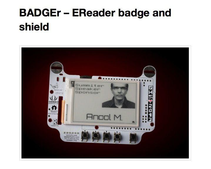 Le badge le plus Geek de l'année !