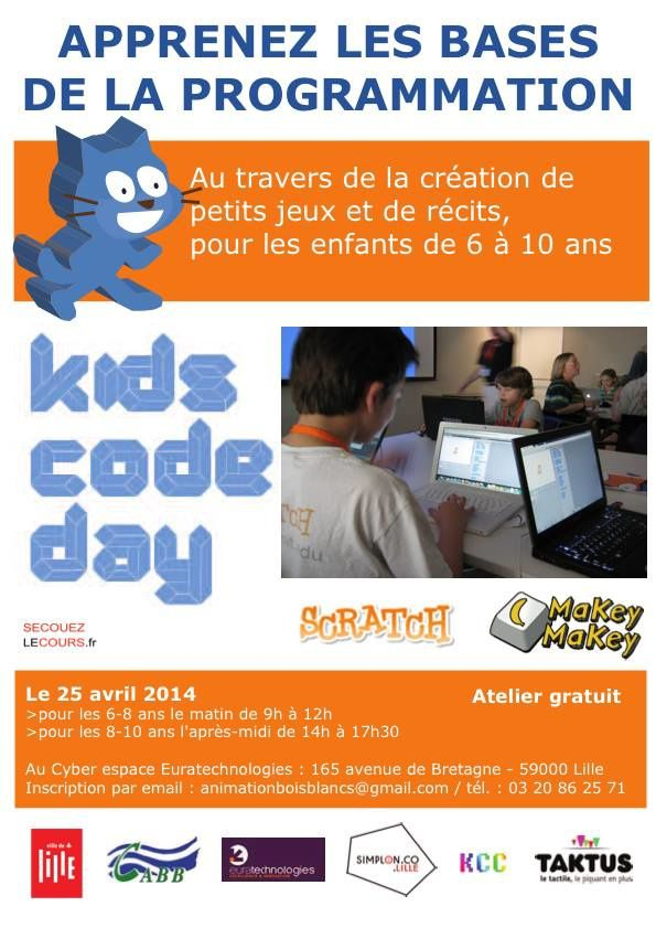 Kids Code Day le 25 avril à Lille