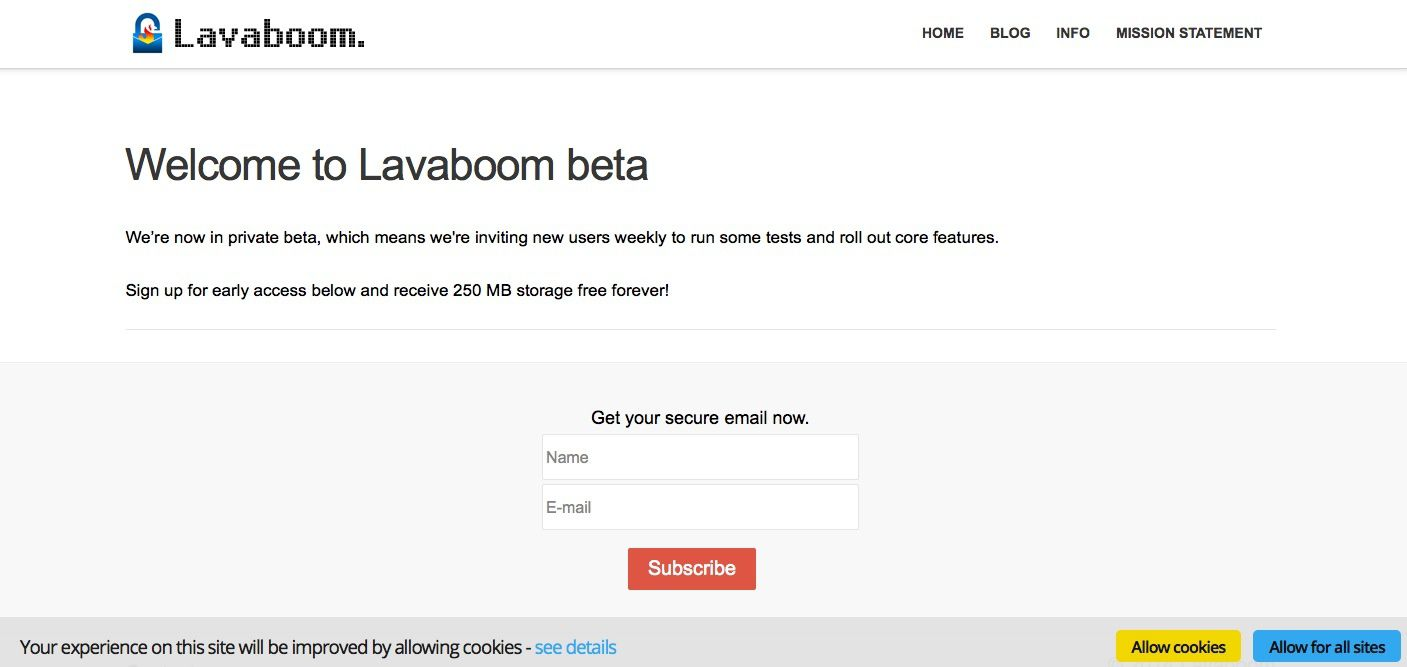 Lavaboom crypte vos messages