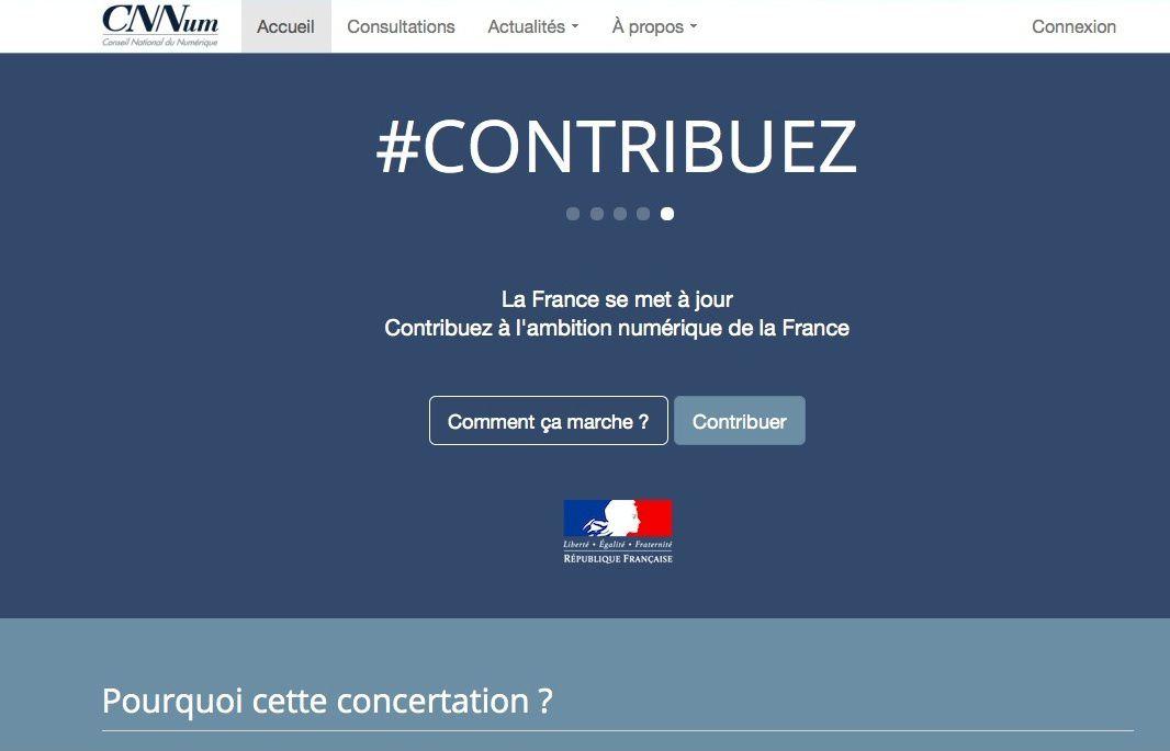 France : concertation nationale sur le numérique