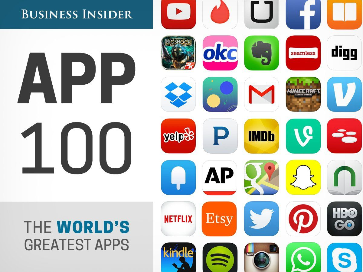 Smartphones, le Top 100 des meilleures applications