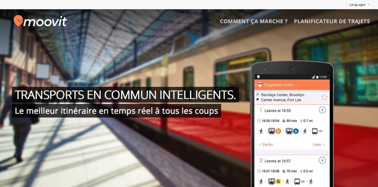 Moovit rend les transports en communs ... intelligents !