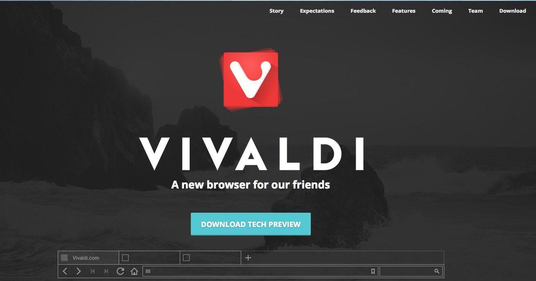 Vivaldi, un nouveau navigateur web
