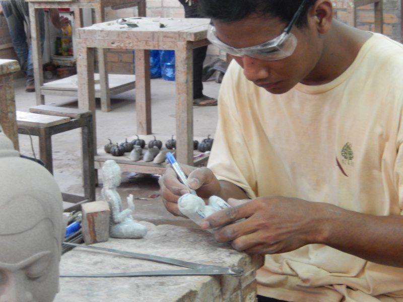 Cambodge Mars 2016 sur la route, dégustation et visite des artisans d'Angkor