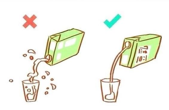 La vraie façon de verser du jus !