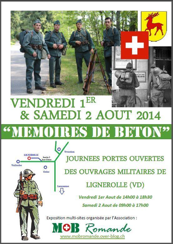 """""""Mémoires de Béton"""" Lignerolle (VD), 1er/2 Aout 2014"""