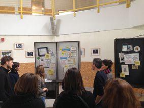 """Photos d'une séance de créativité réalisée par le GROUPE Science-Animation Midi-Pyrénées en janvier 2014 : """"A quoi ressemblerait le centre de culture scientifique idéal pour les 15-25 ans ?"""""""