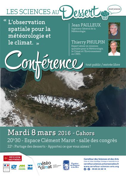 Conférence : l'observation spatiale (mardi 8 mars 2016, Cahors)