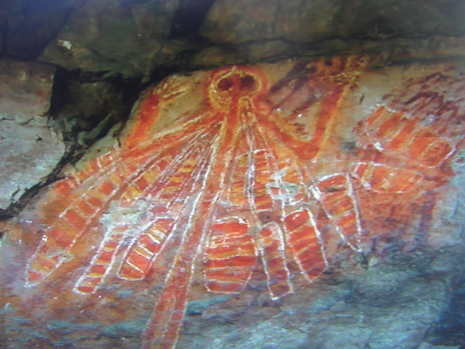 Peinture aborigène d'Australie (image du film)