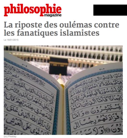 Lettre ouverte des philosophes arabes au «Calife en chef» des Djihadistes à la con…