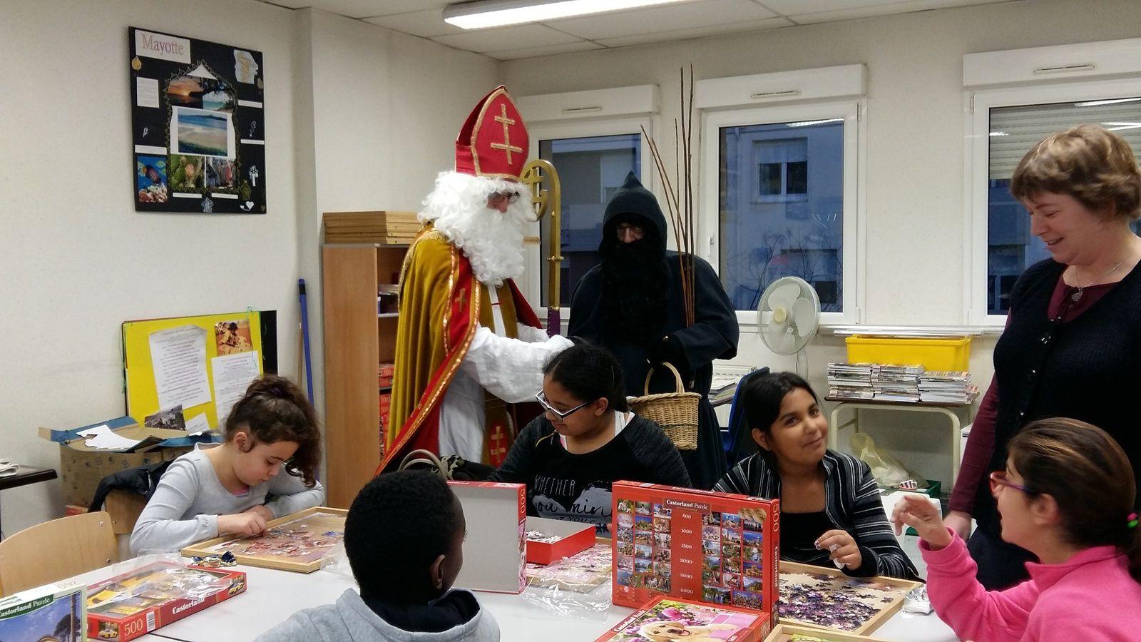 St Nicolas en visite à Mosaïque les 7 et 8 décembre