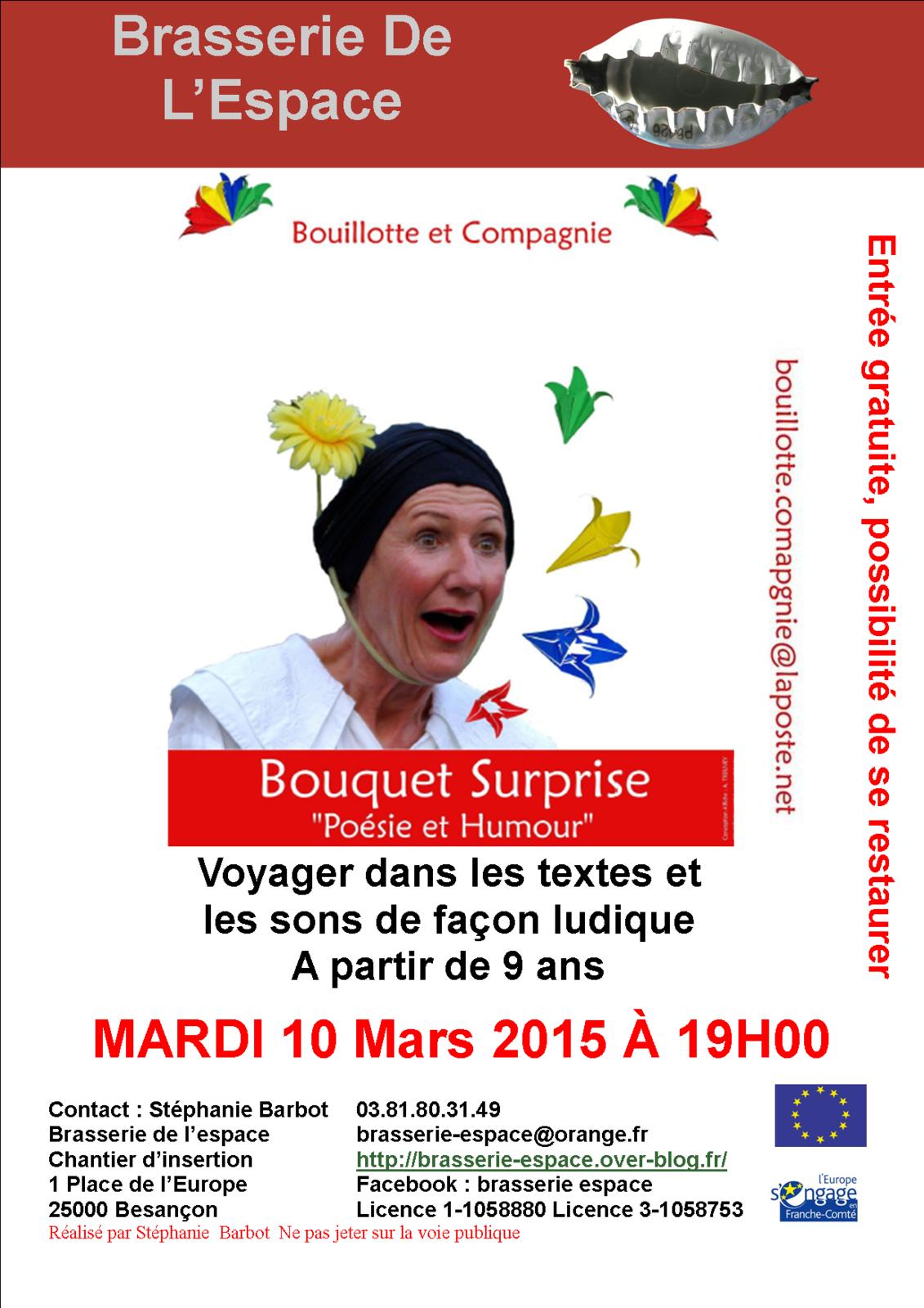 Poésie et Humour 10 mars 2015