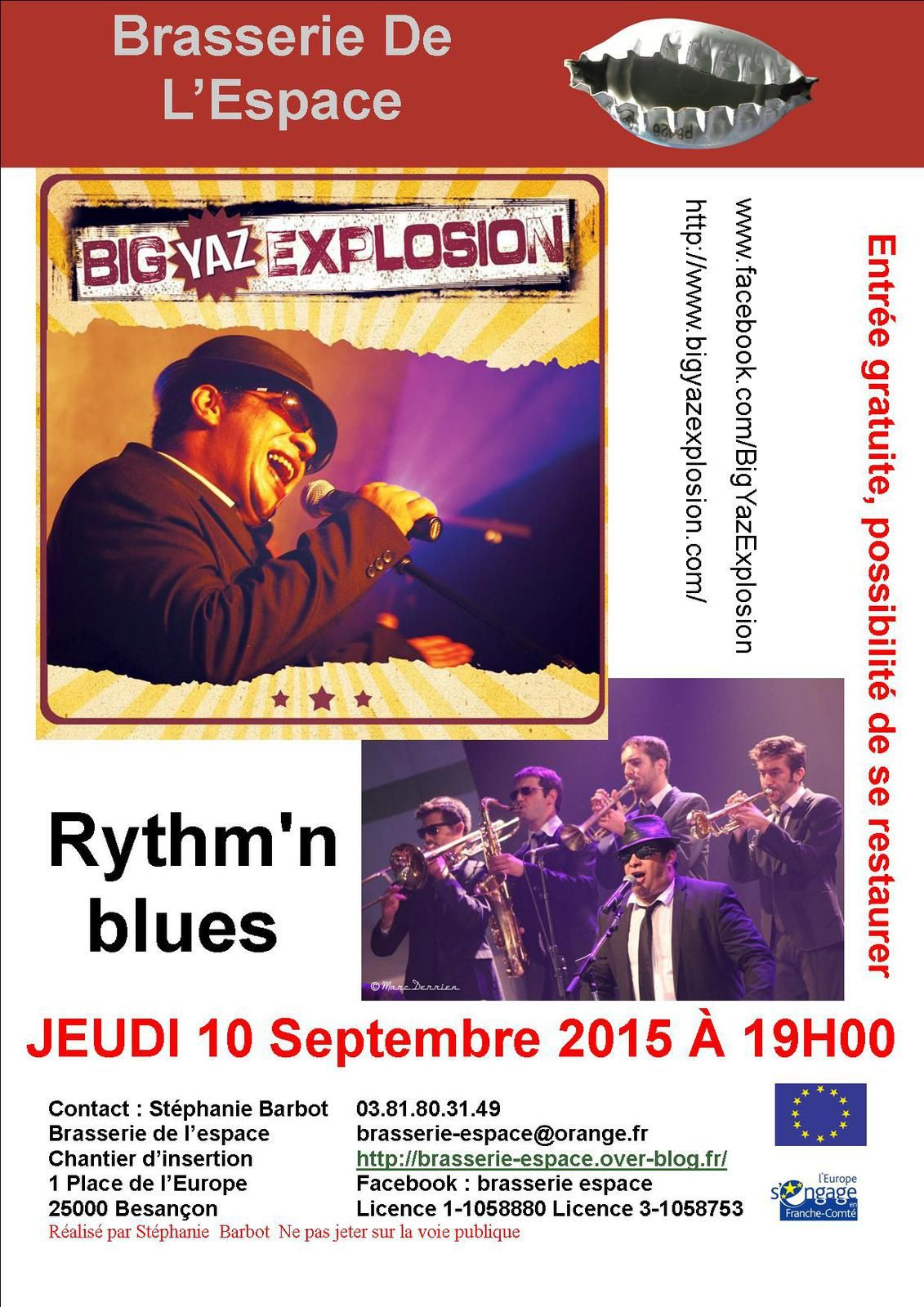 Big Yaz Explosion 10 septembre 2015